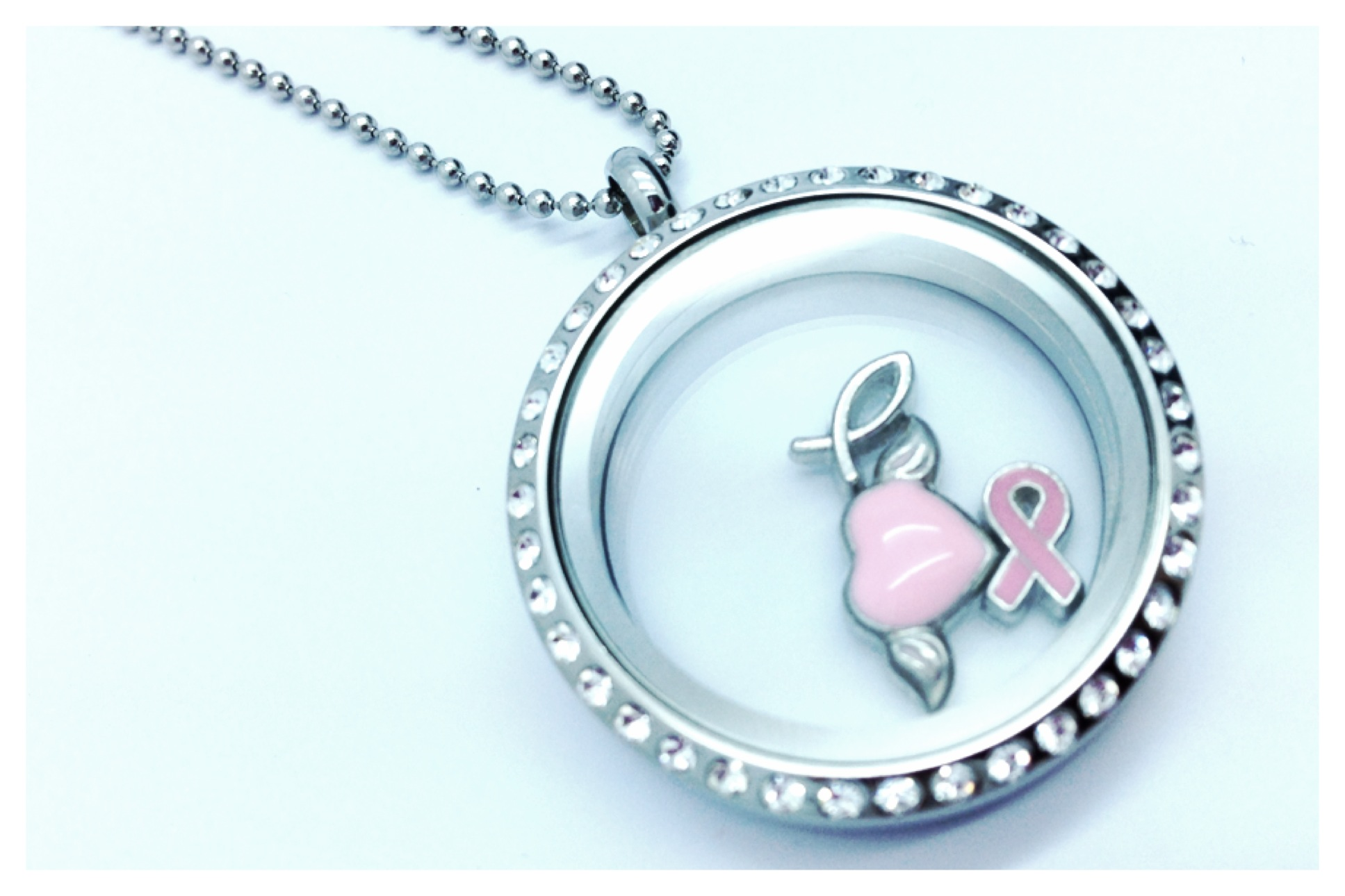 Floating charm locket necklace mozeypictures Images